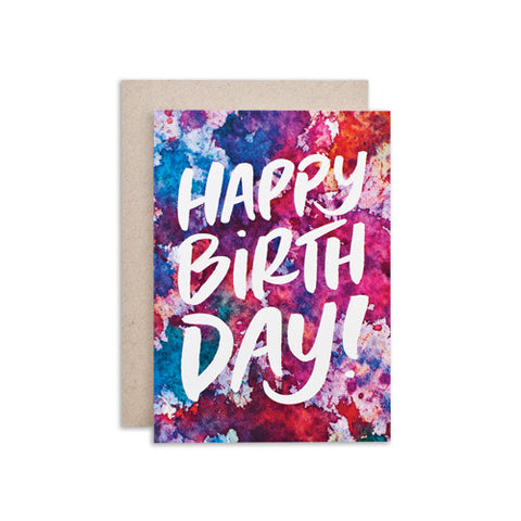"""HAPPY BIRTHDAY / BKGRD"" CARD"