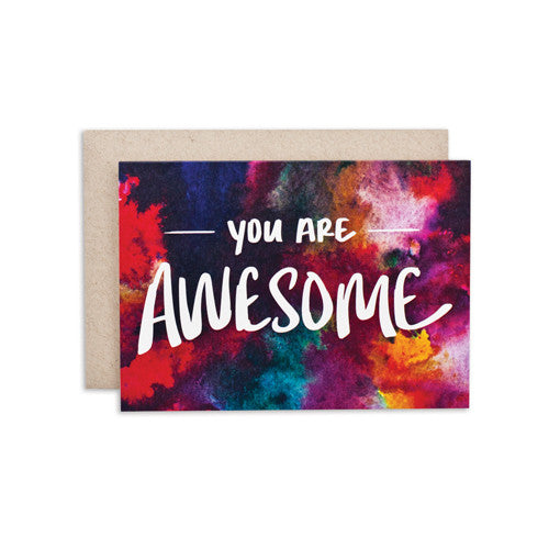 """AWESOME / BKGRD"" CARD"