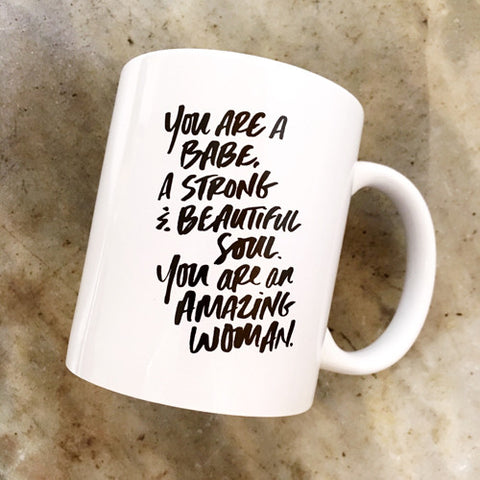 """AMAZING WOMAN"" MUG - DISCOUNTED"