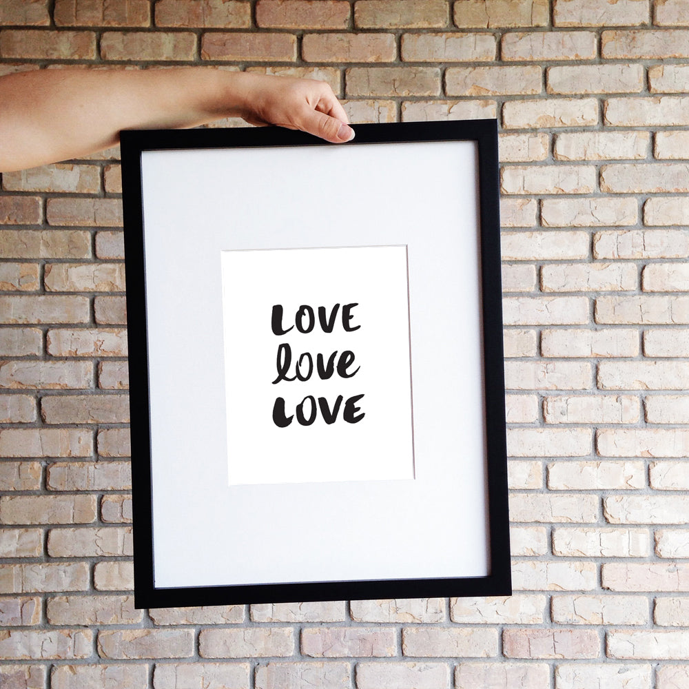 LOVE LOVE LOVE // Digital Print