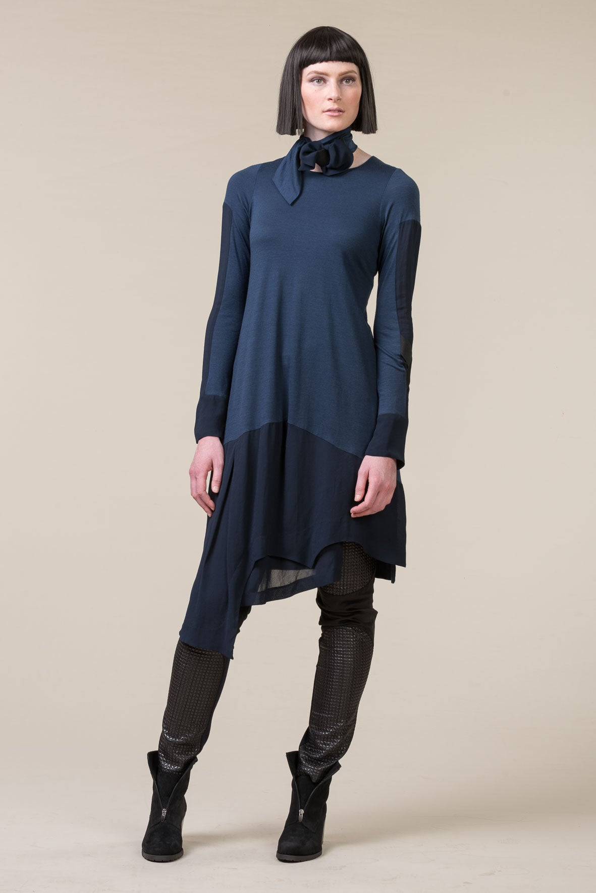 MILD-RED Marionette merino dress - navy