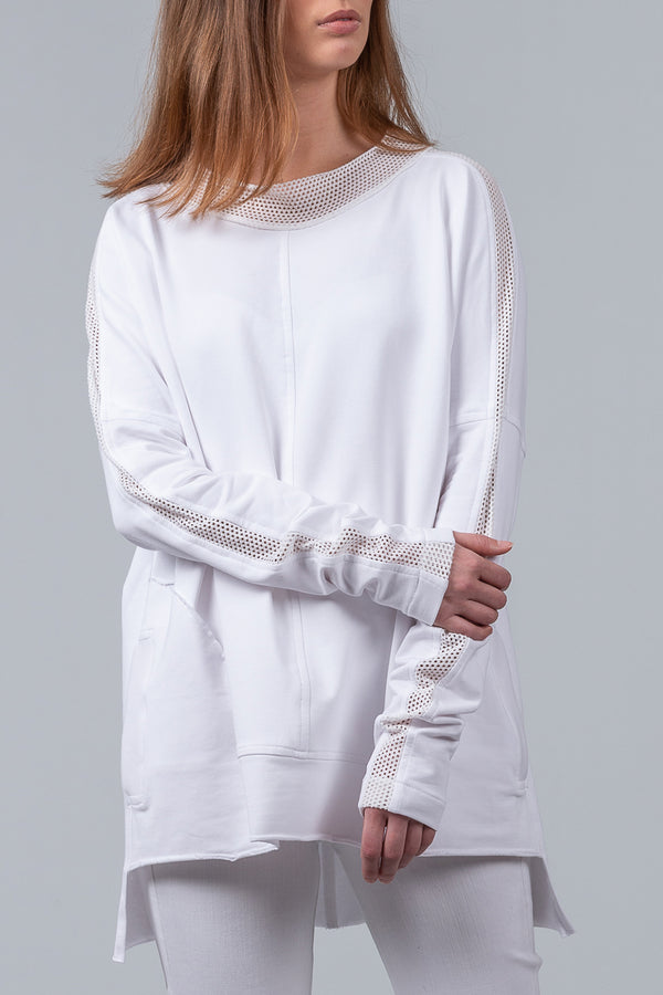 Long Weekender Sweatshirt - white