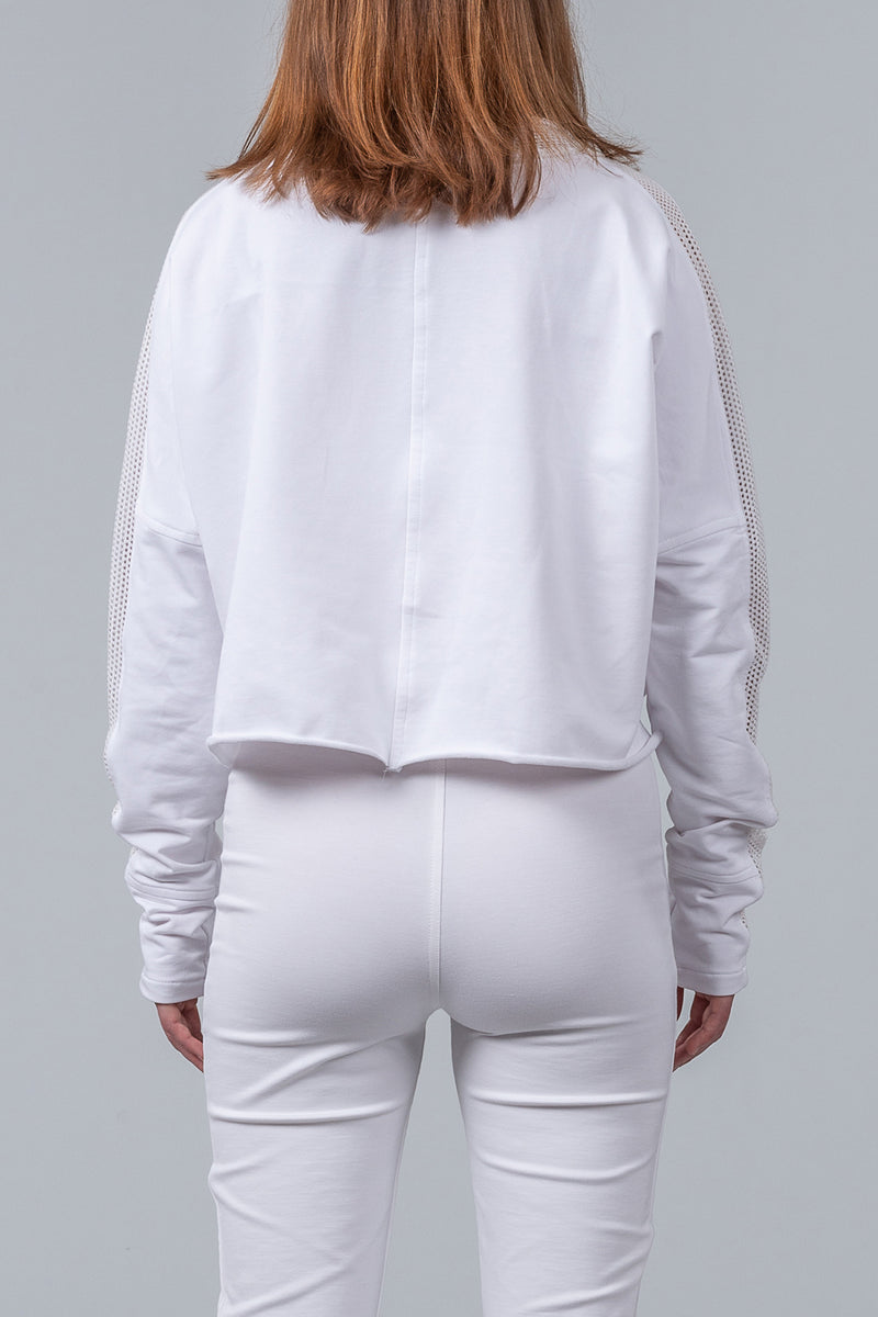 Short Weekender Sweatshirt - white