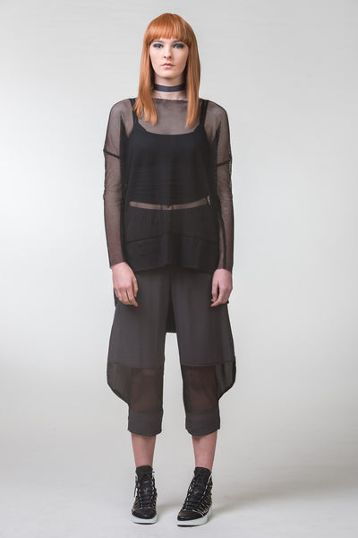 Pen of Thoughts Mesh Top - black
