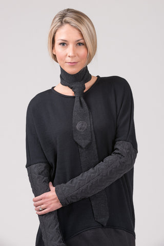 Sanctuary oversized jumper - black
