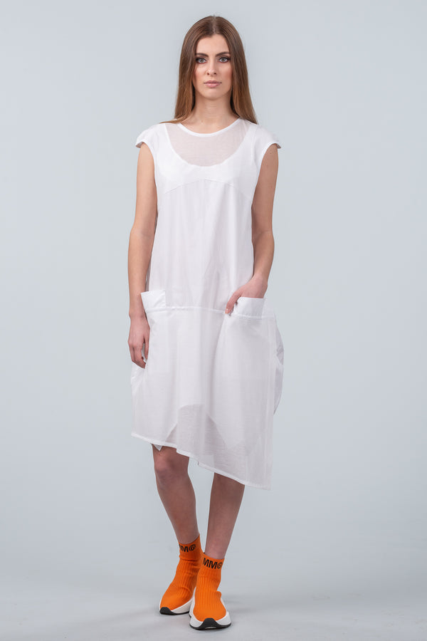 Let There Be Light Dress - white