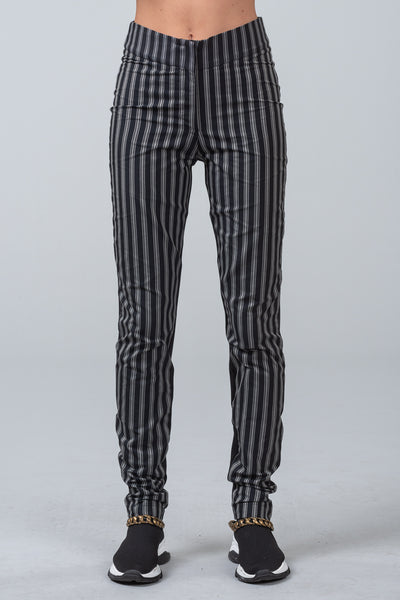 POST CODE - skinny pants - stripe