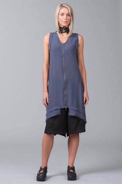 Elevation Sleeveless Overdress – steel