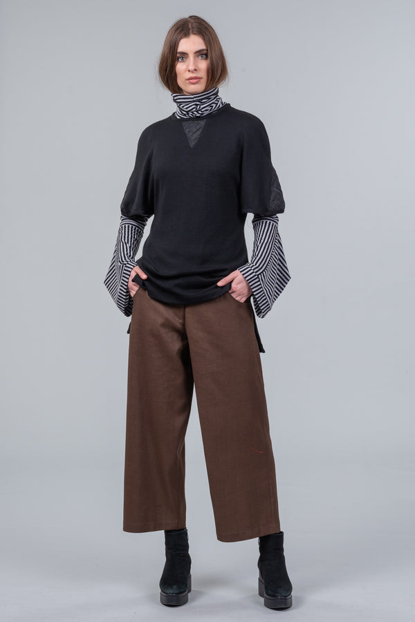 Dividing Line Trousers - coffee khaki