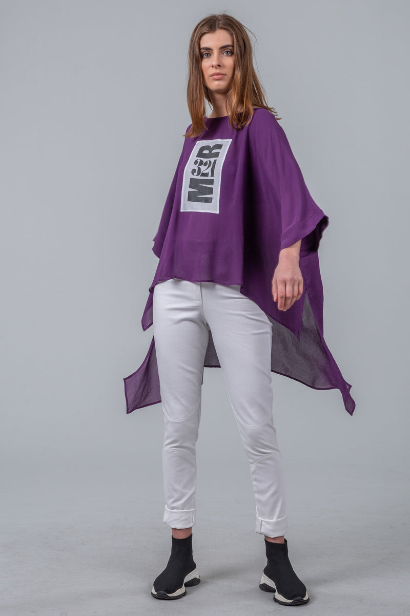 321 Go! - oversized top - deep purple