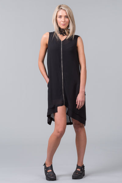 Elevation Sleeveless Overdress – black