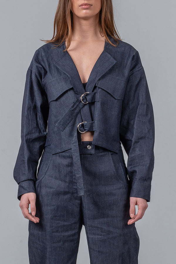 Staycation Jacket – blue chambray