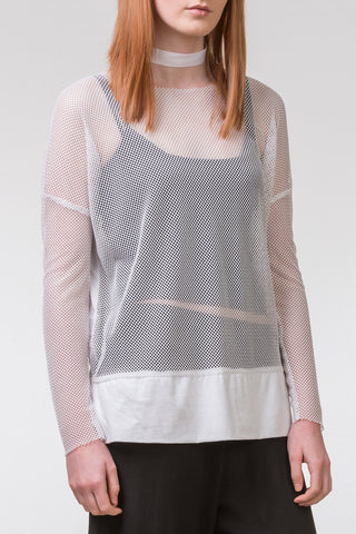 Pen of Thoughts Mesh Top - white