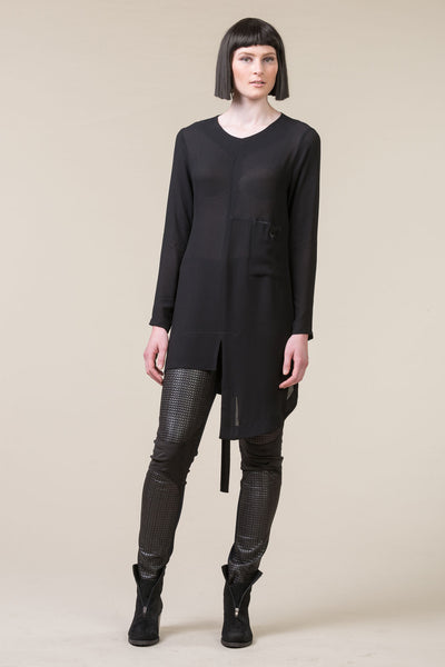 Thin Lines Overdress – black