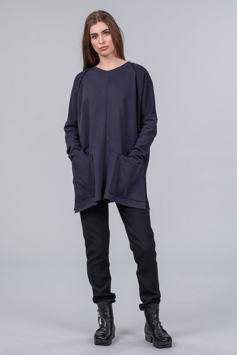 Offline - organic cotton sweatshirt - midnight
