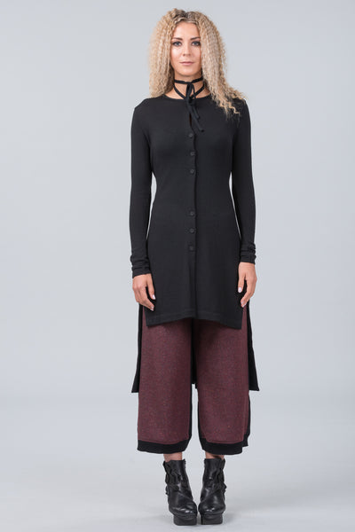 Impressionist knit jacket - black