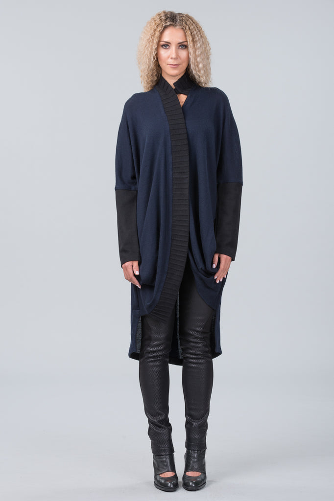 Concept knit coat - midnight