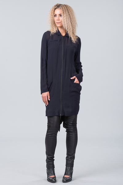 4th Dimension shirt dress - midnight