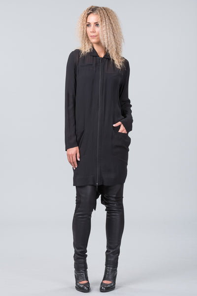 4th Dimension shirt dress - black