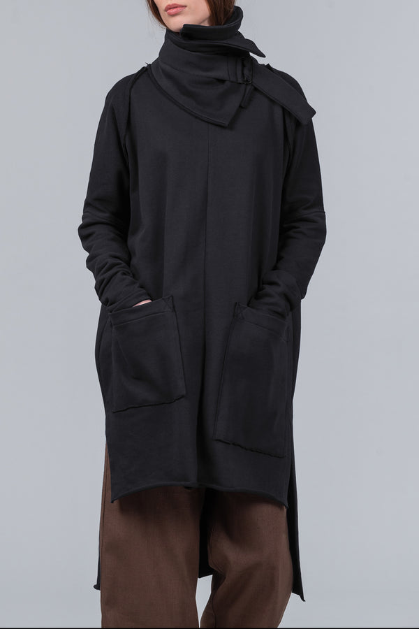 Location - sweatshirt dress - black