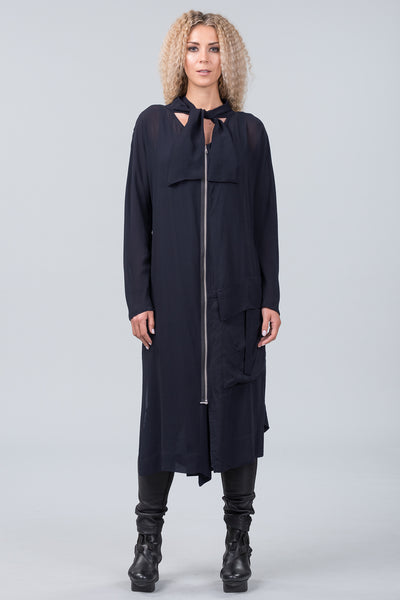 Hello Darkness coat dress - midnight