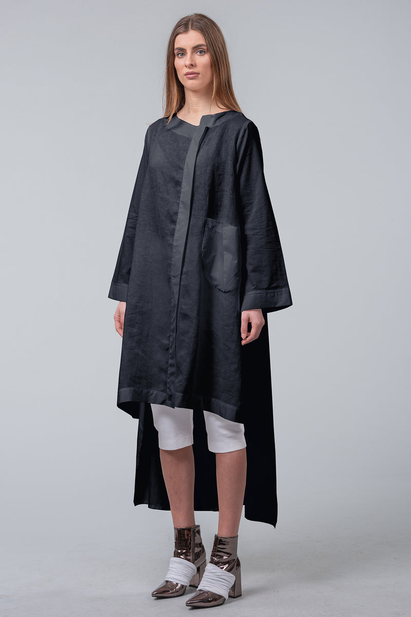 Mechanics of Construction - sculptured coat-dress - black