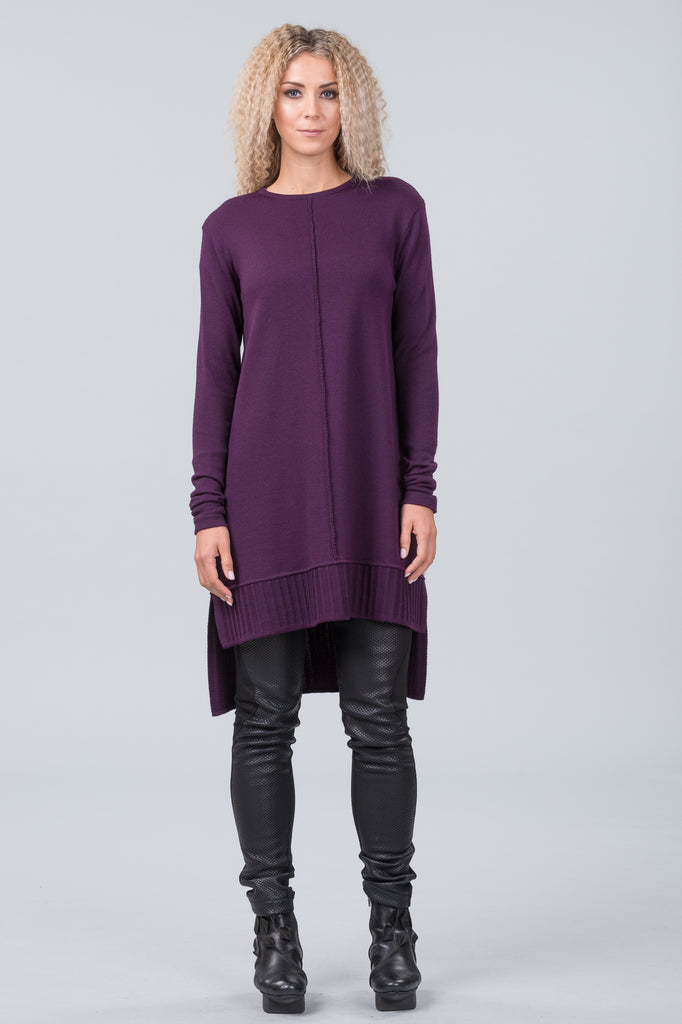 Monet merino sweater dress - purple haze