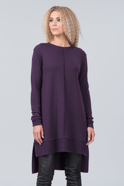 Monet merino sweater dress - NEW purple