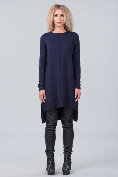 Monet merino sweater dress - midnight