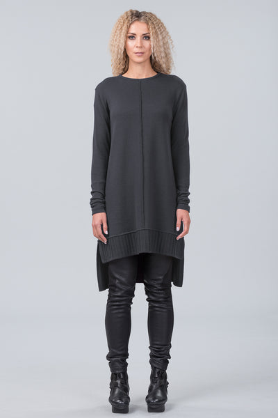 Monet merino sweater dress - granite