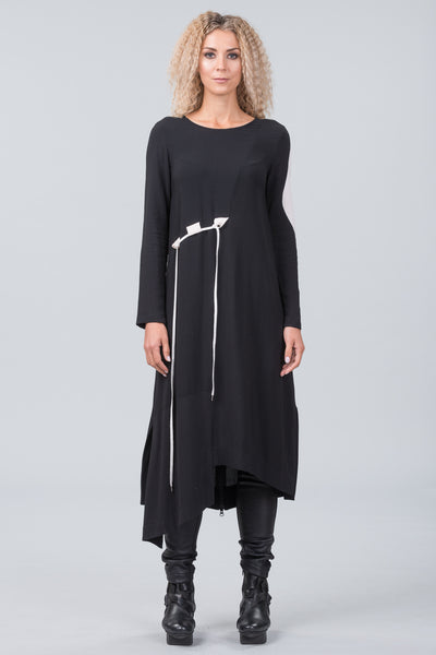 Klee dress - black with chalk