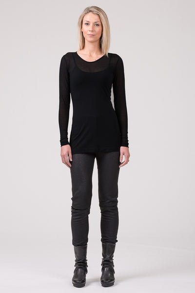 Baseline superfine merino top - black