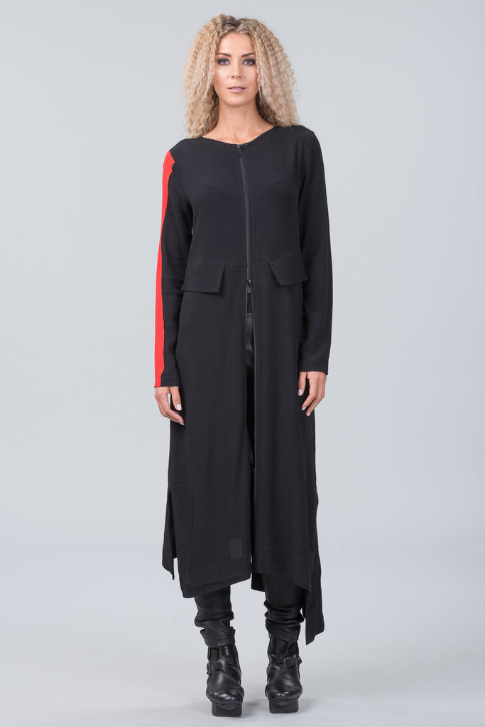 Klee dress - black with orange