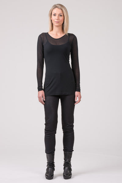 Baseline superfine cotton top - black