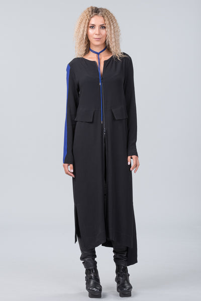 Klee dress - black with blue