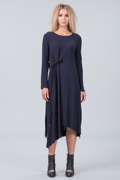 Klee dress - midnight with black