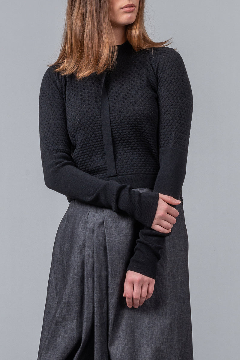 Bricks and Mortar - merino jumper - black - LIMITED EDITION