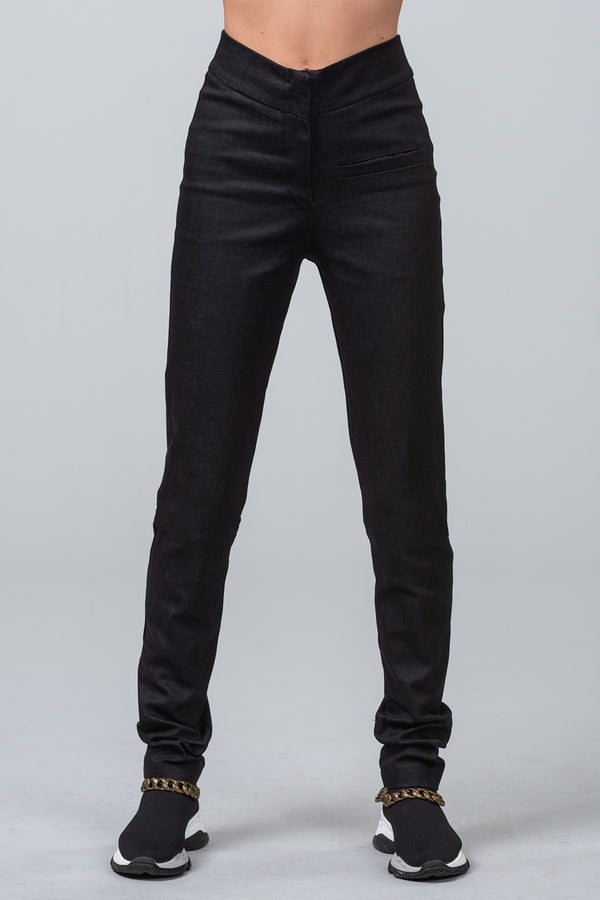 POST CODE - skinny pants - black
