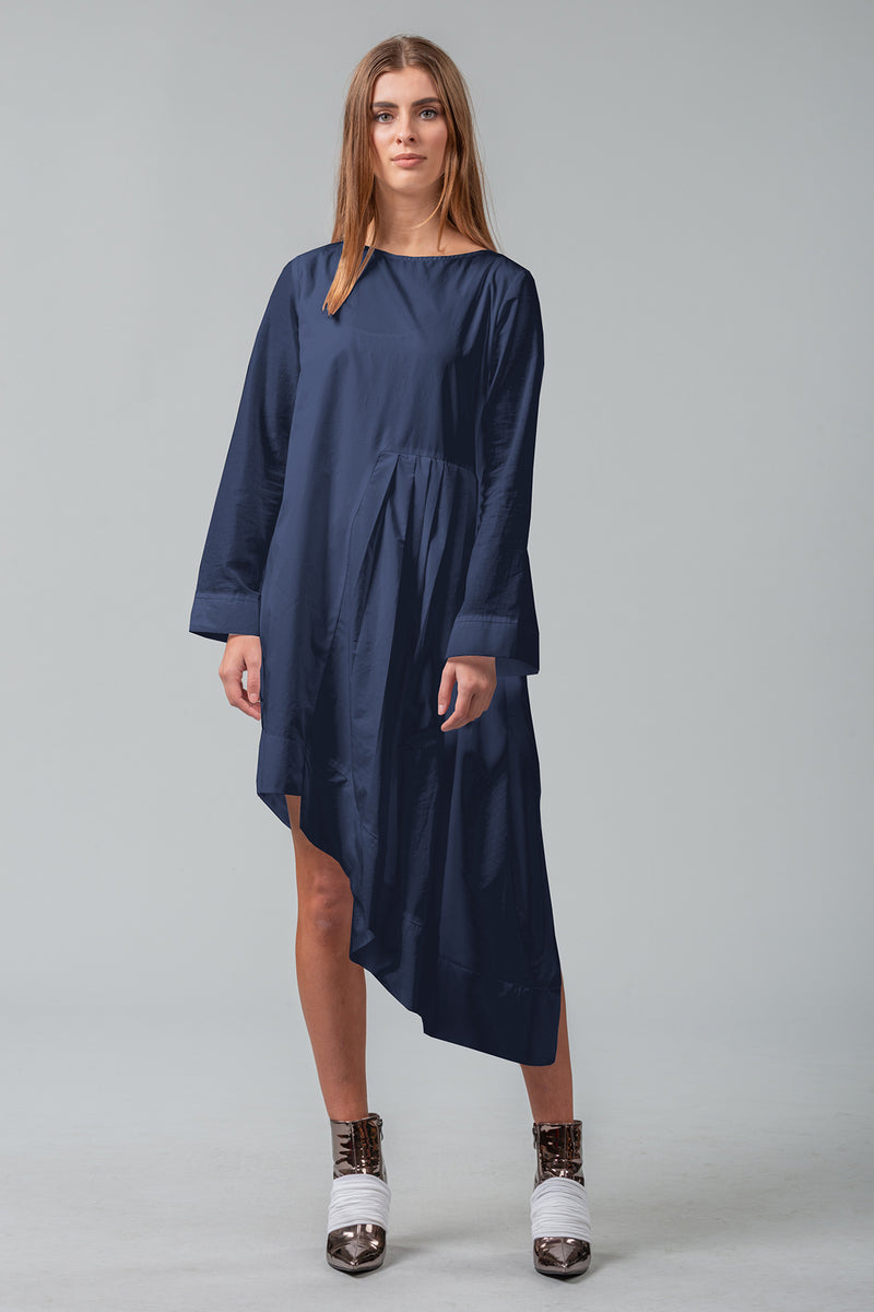 Secrets Unfold - Sleeved Dress - Midnight