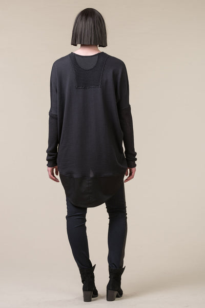 Translate Oversized Top- charcoal