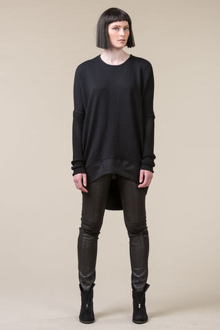 Translate Oversized Top - black