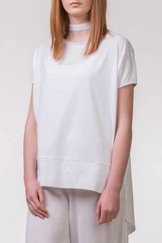 Pencil Pusher Cotton Top - white