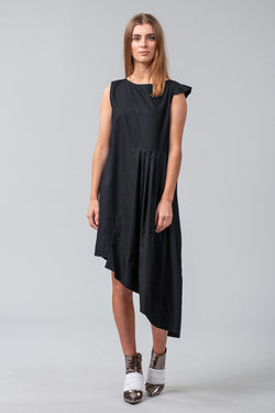 Folded Pages Dress - black