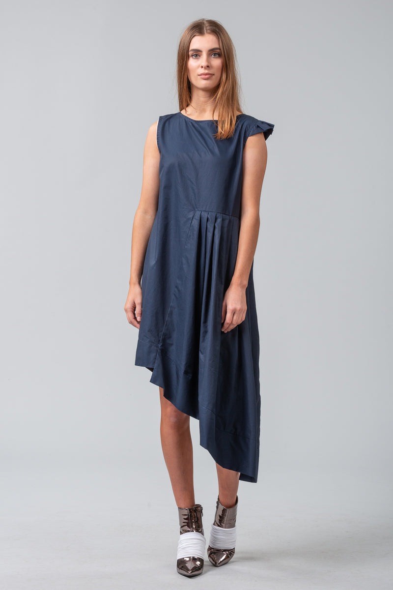Folded Pages Dress - Midnight