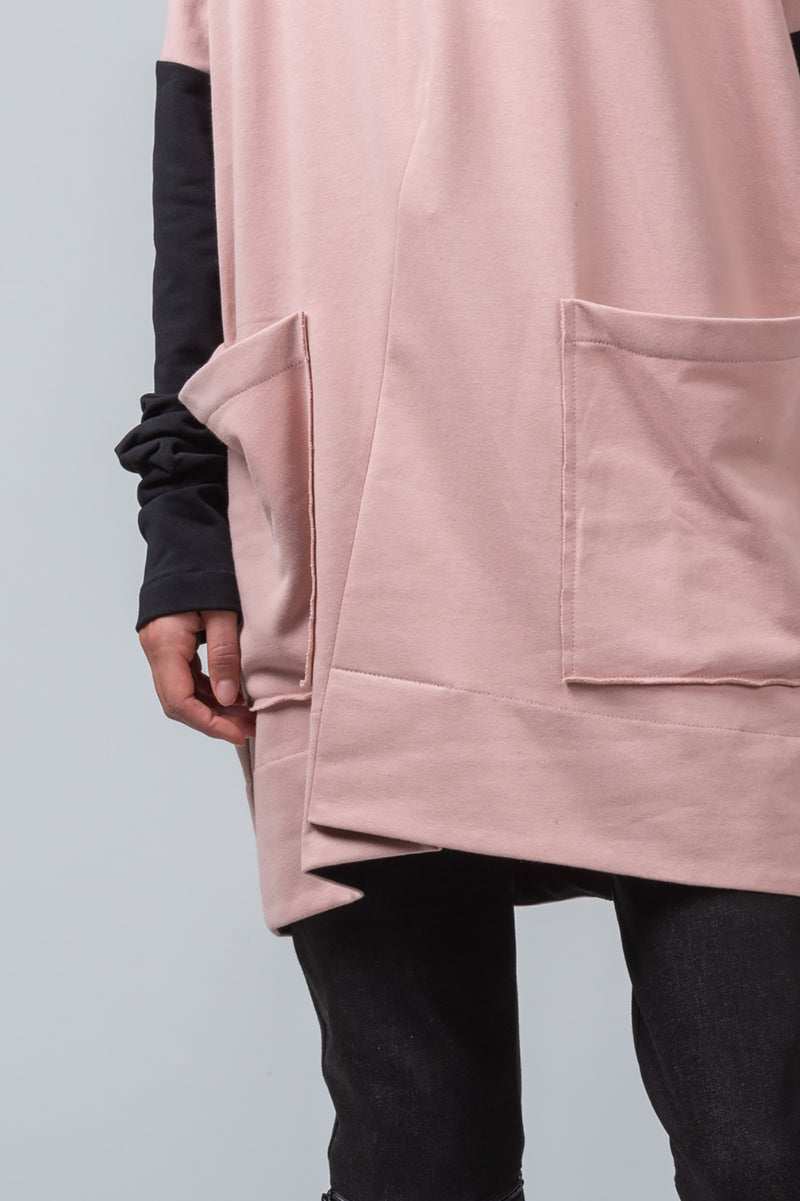POST MASTER - oversized cotton sweatshirt - blush