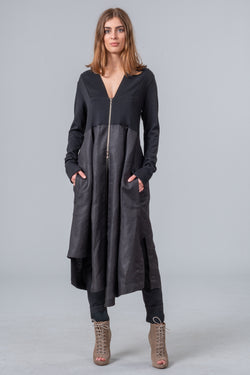 Postcards from Winter - coat dress - black