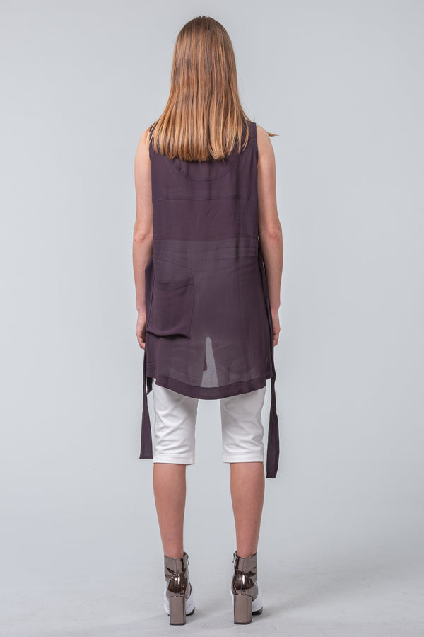 New Works Singlet - dark plum