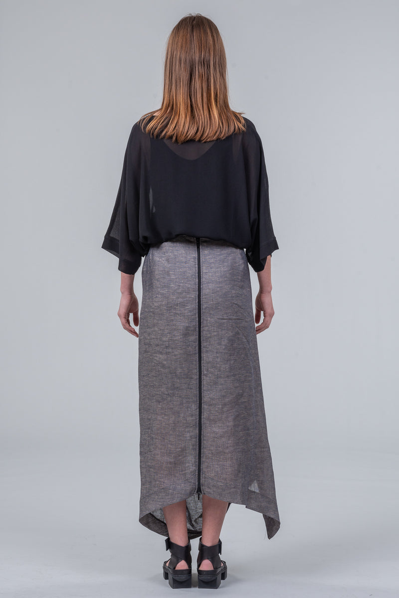 321 Go! - oversized top - black