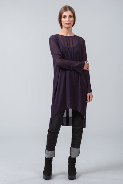 MINT EDITION - viscose overdress - purple