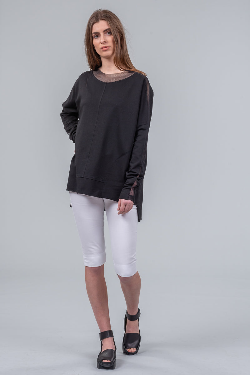 Long Weekender Sweatshirt - black